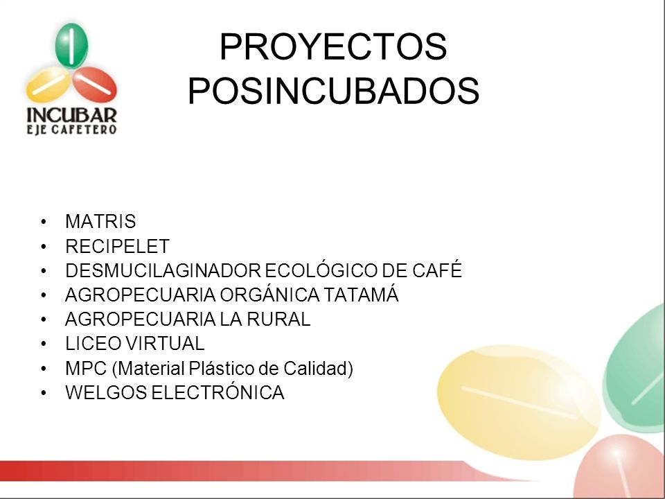 PROYECTOS POSINCUBADOS