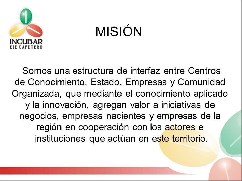 MISIÓN Somos una estructura de interfaz entre Centros