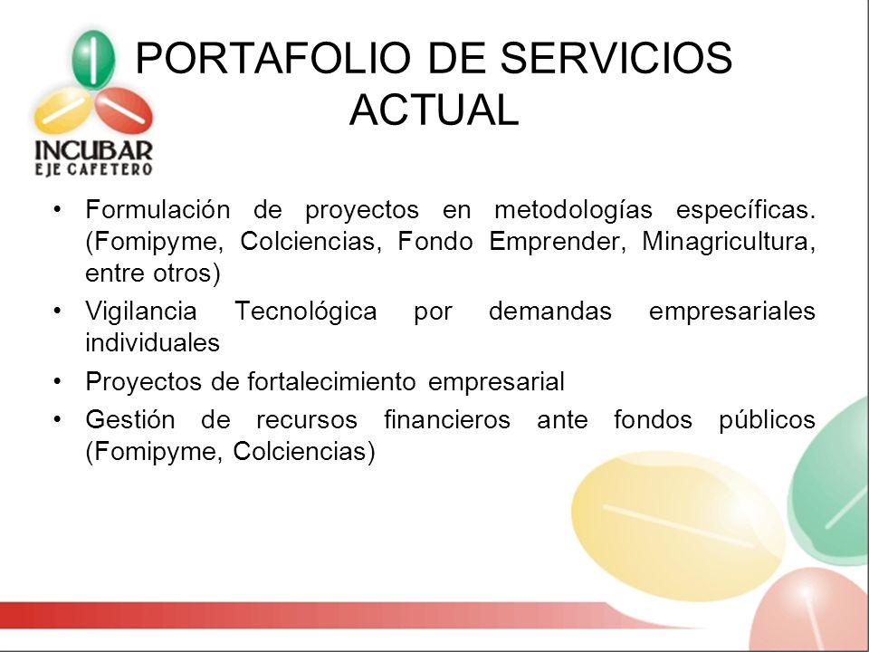 PORTAFOLIO DE SERVICIOS ACTUAL