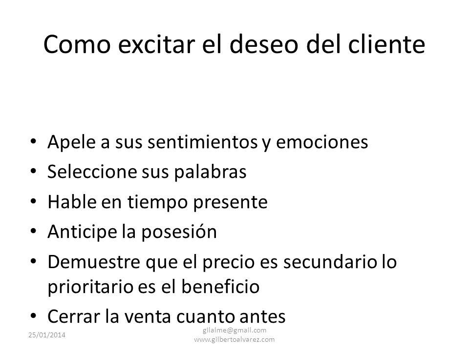 Como excitar el deseo del cliente