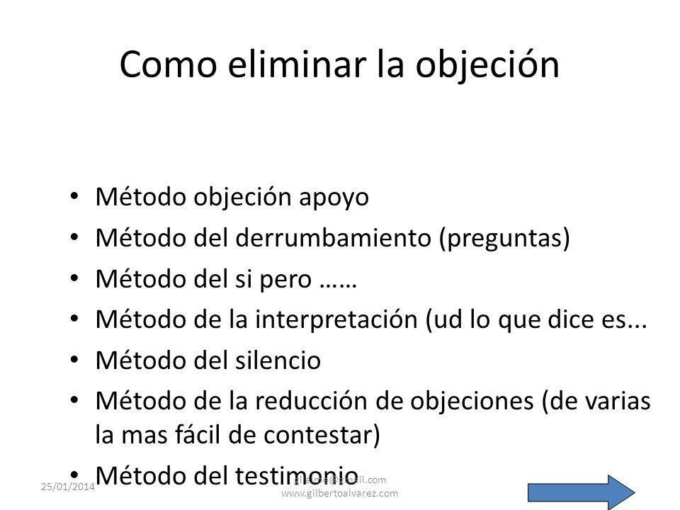 Como eliminar la objeción