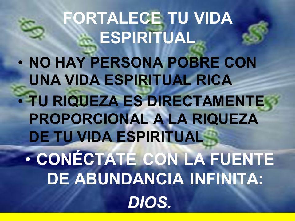 FORTALECE TU VIDA ESPIRITUAL