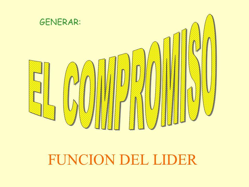 EL COMPROMISO GENERAR: FUNCION DEL LIDER