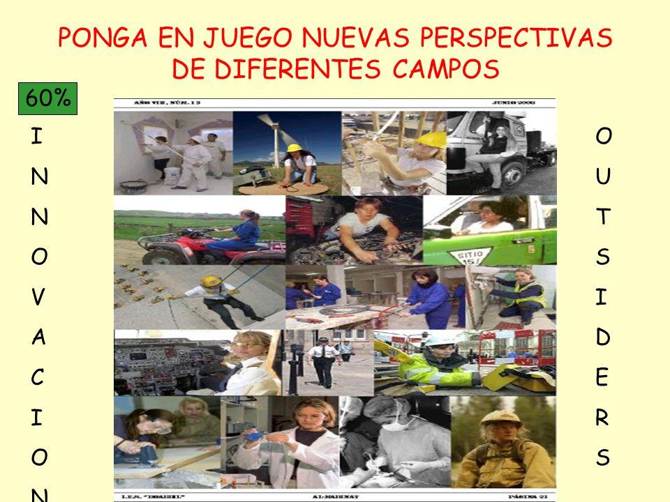 PONGA EN JUEGO NUEVAS PERSPECTIVAS DE DIFERENTES CAMPOS