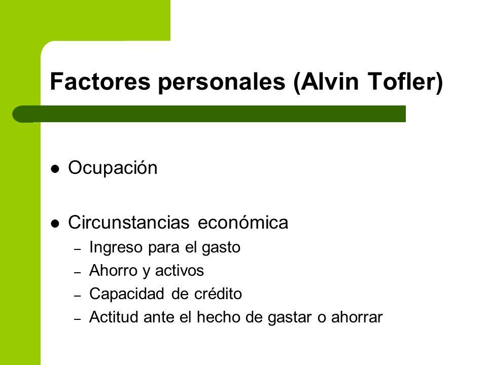 Factores personales (Alvin Tofler)