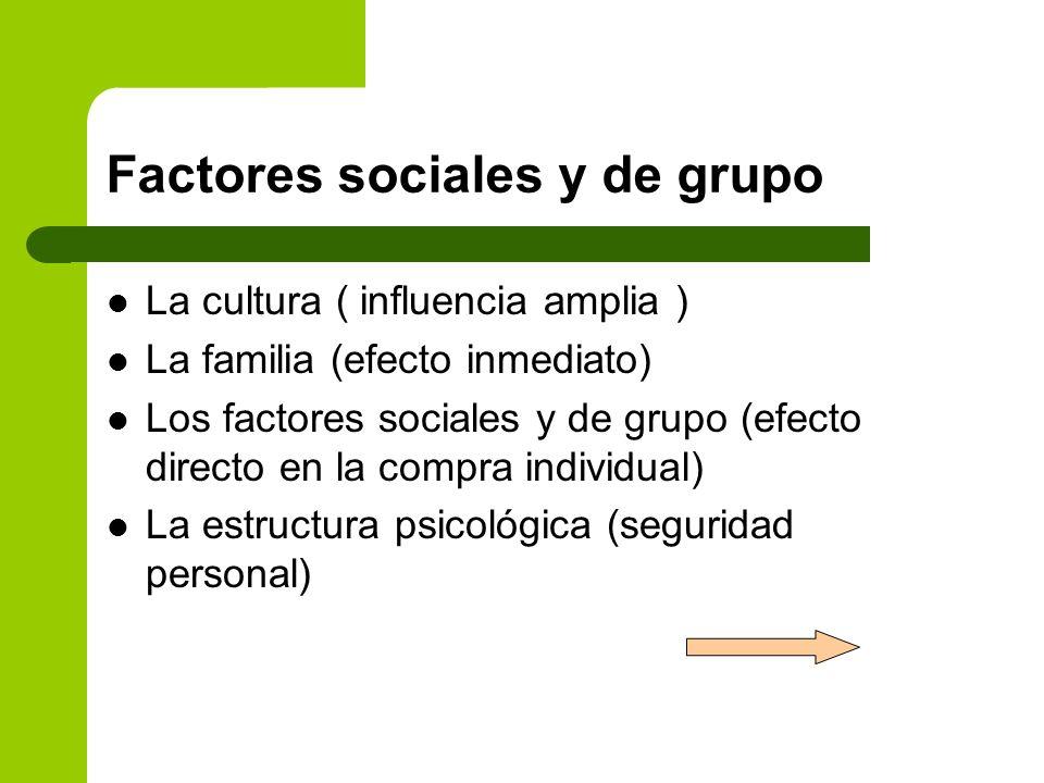 Factores sociales y de grupo