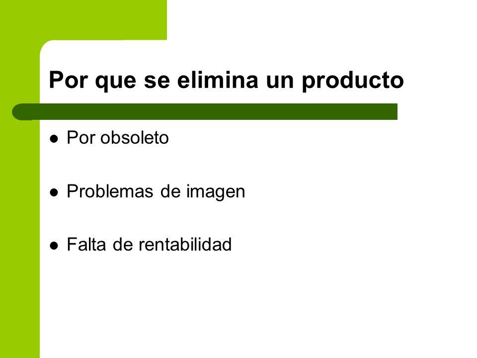 Por que se elimina un producto
