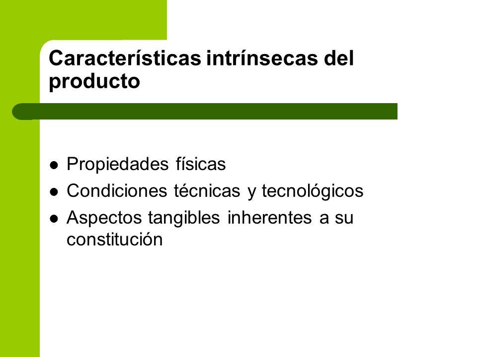 Características intrínsecas del producto
