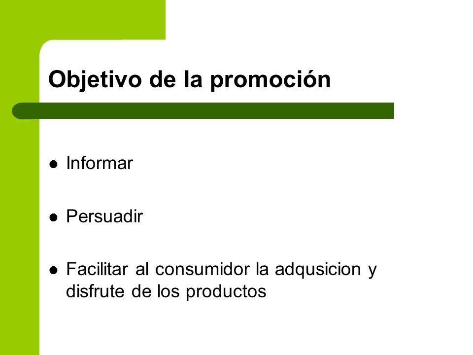 Objetivo de la promoción