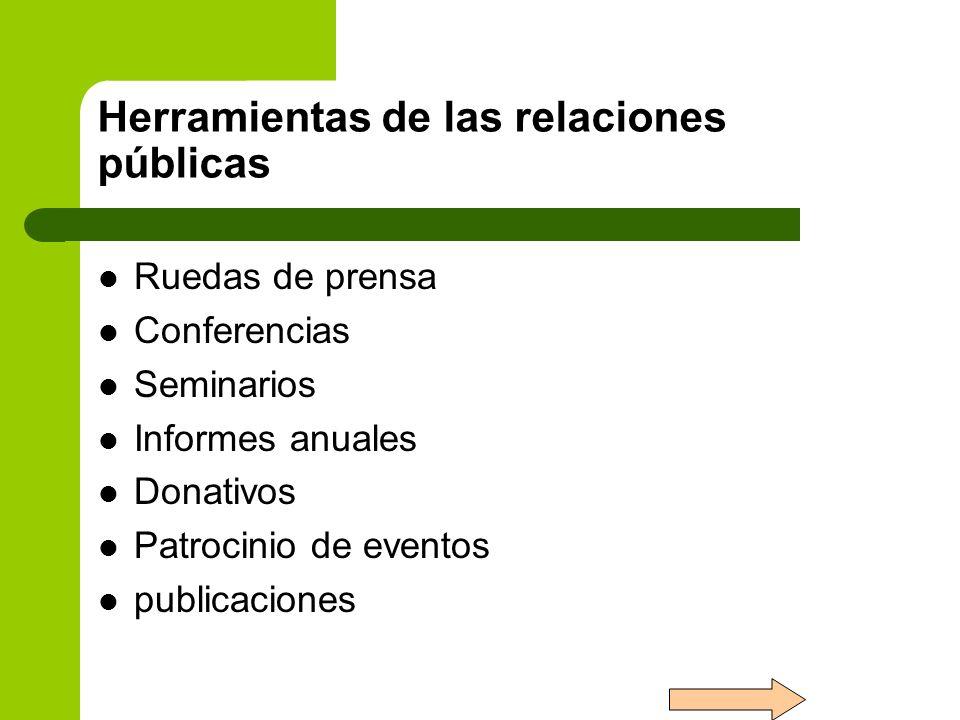 Herramientas de las relaciones públicas