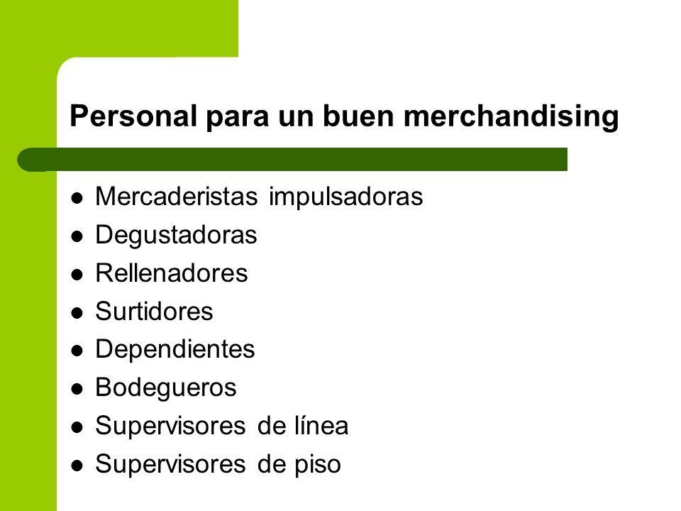 Personal para un buen merchandising