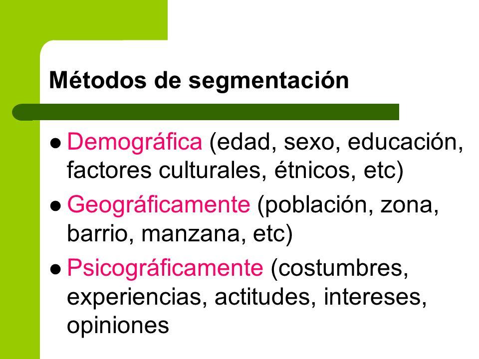 Métodos de segmentación