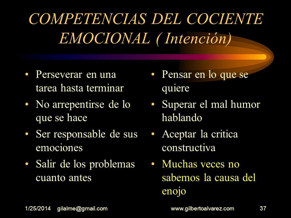 COMPETENCIAS DEL COCIENTE EMOCIONAL ( Intención)