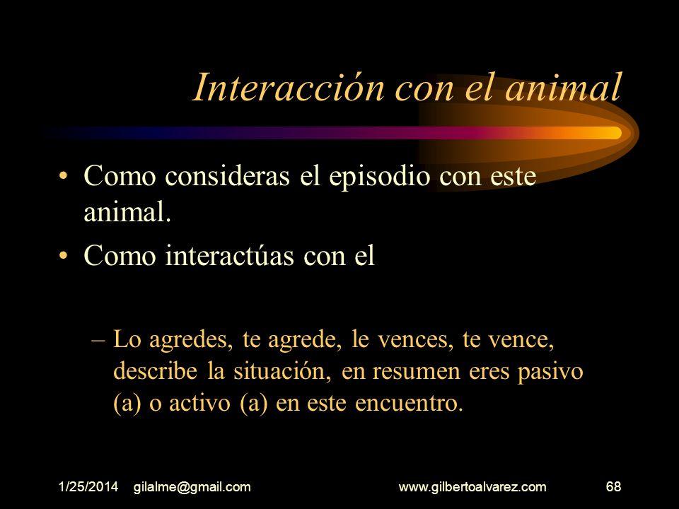 Interacción con el animal