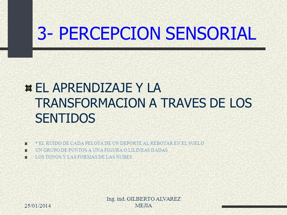 3- PERCEPCION SENSORIAL