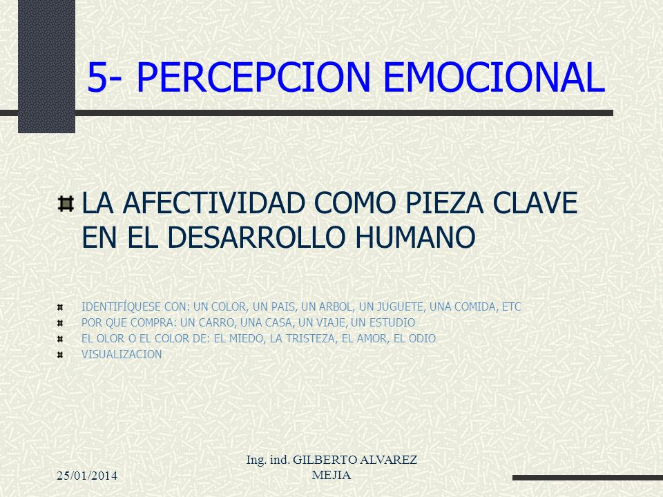 5- PERCEPCION EMOCIONAL