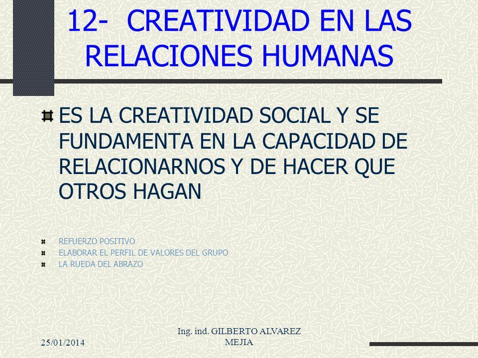 12- CREATIVIDAD EN LAS RELACIONES HUMANAS