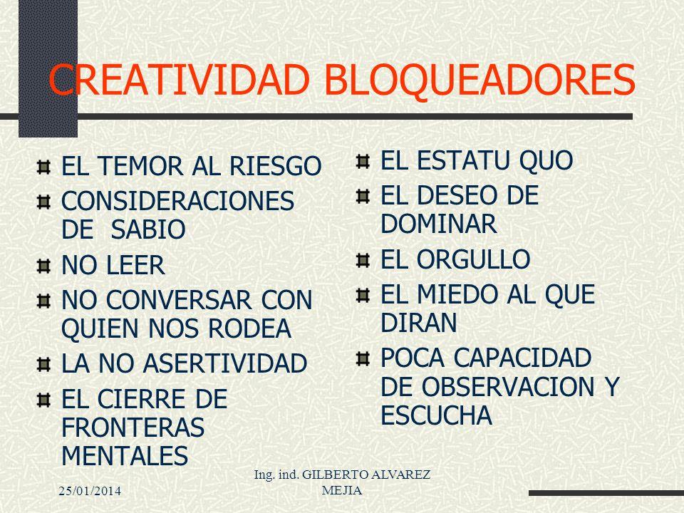 CREATIVIDAD BLOQUEADORES