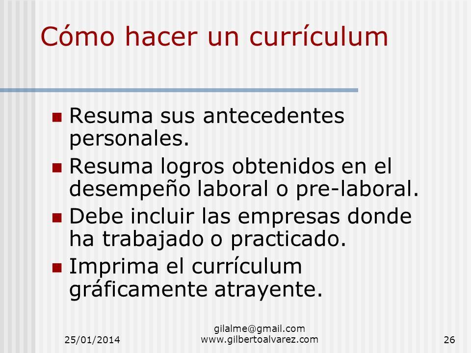 Cómo hacer un currículum
