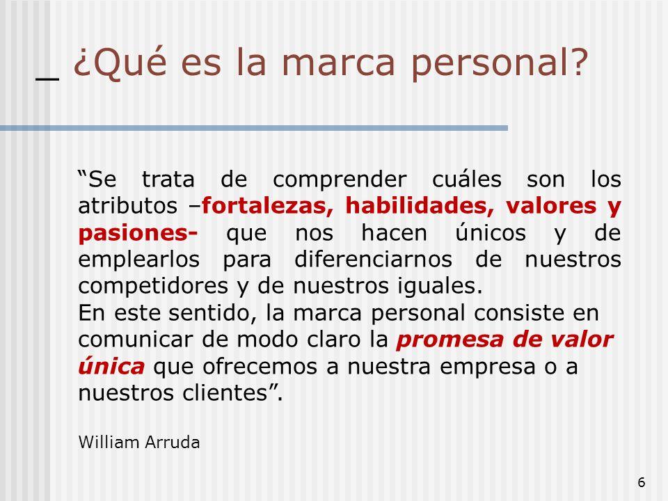 _ ¿Qué es la marca personal