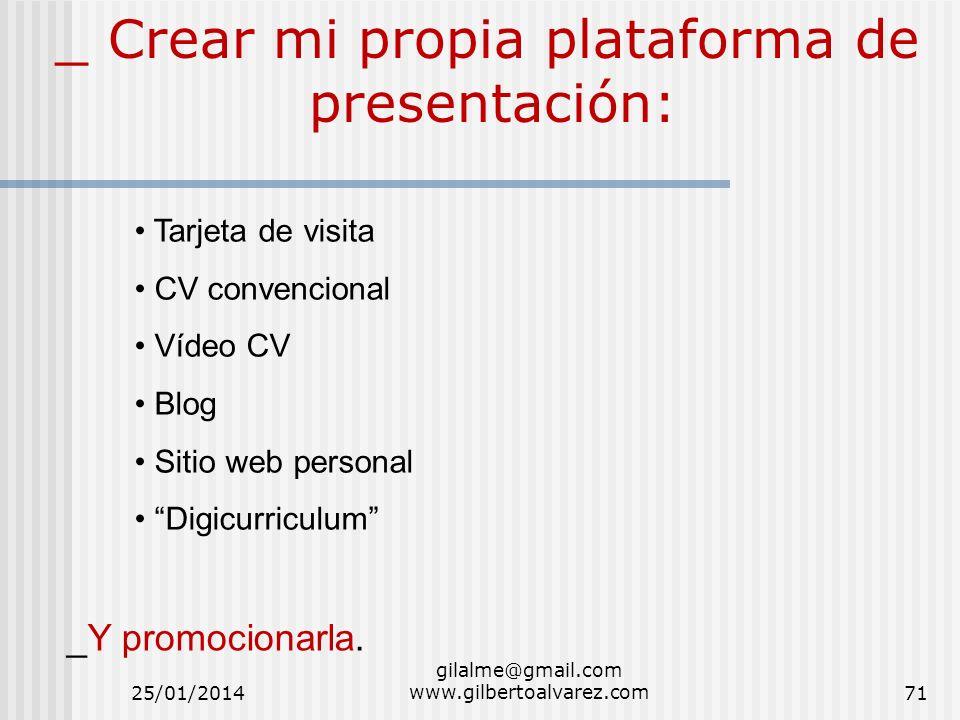 _ Crear mi propia plataforma de presentación: