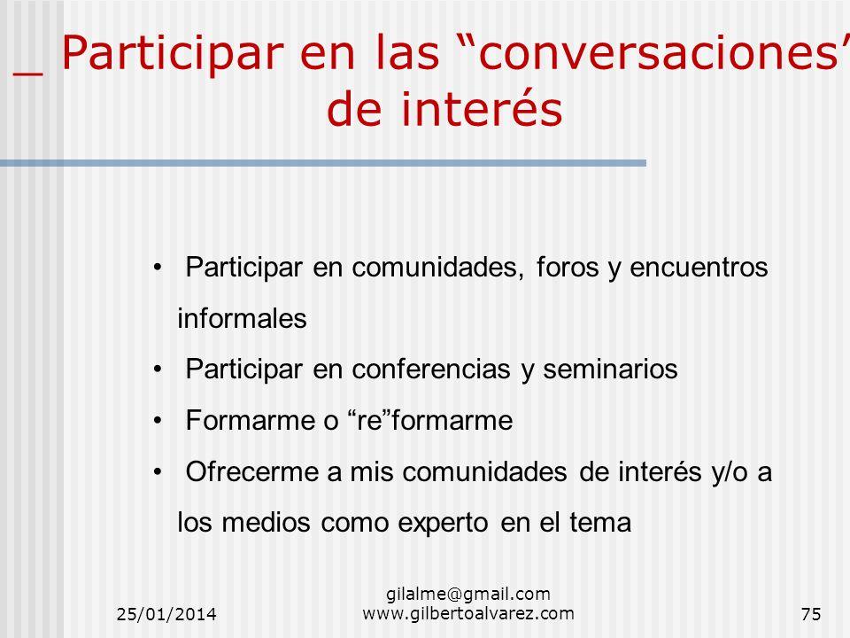 _ Participar en las conversaciones de interés