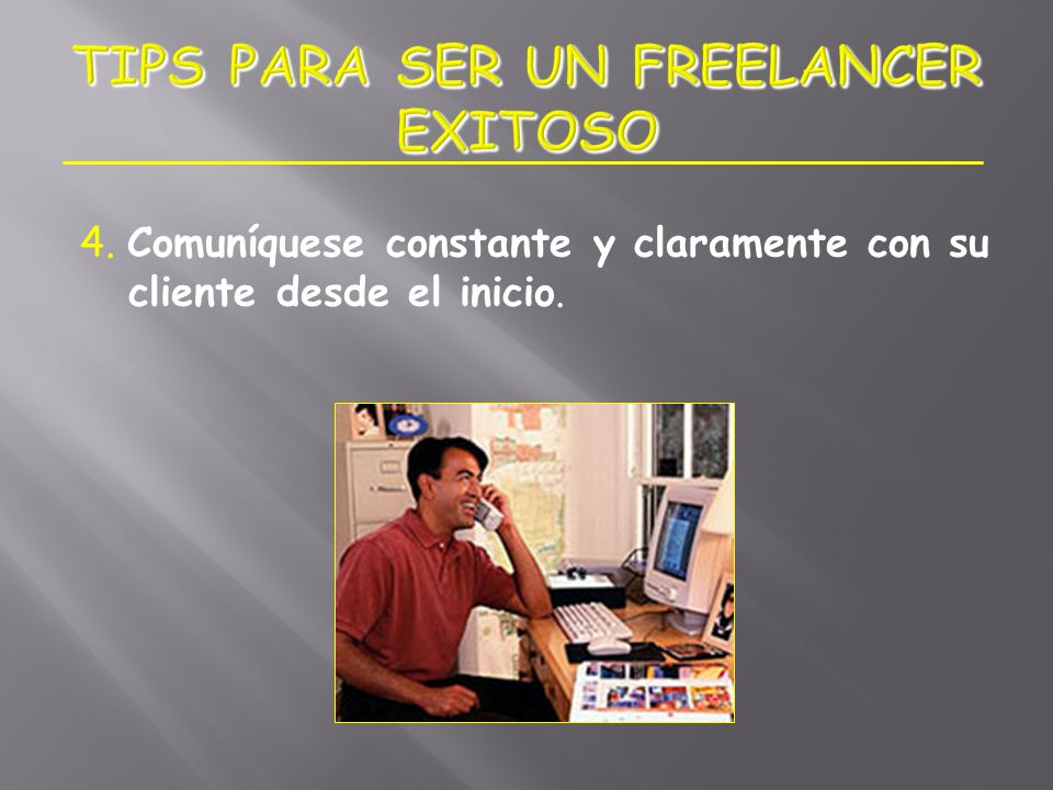 TIPS PARA SER UN FREELANCER EXITOSO