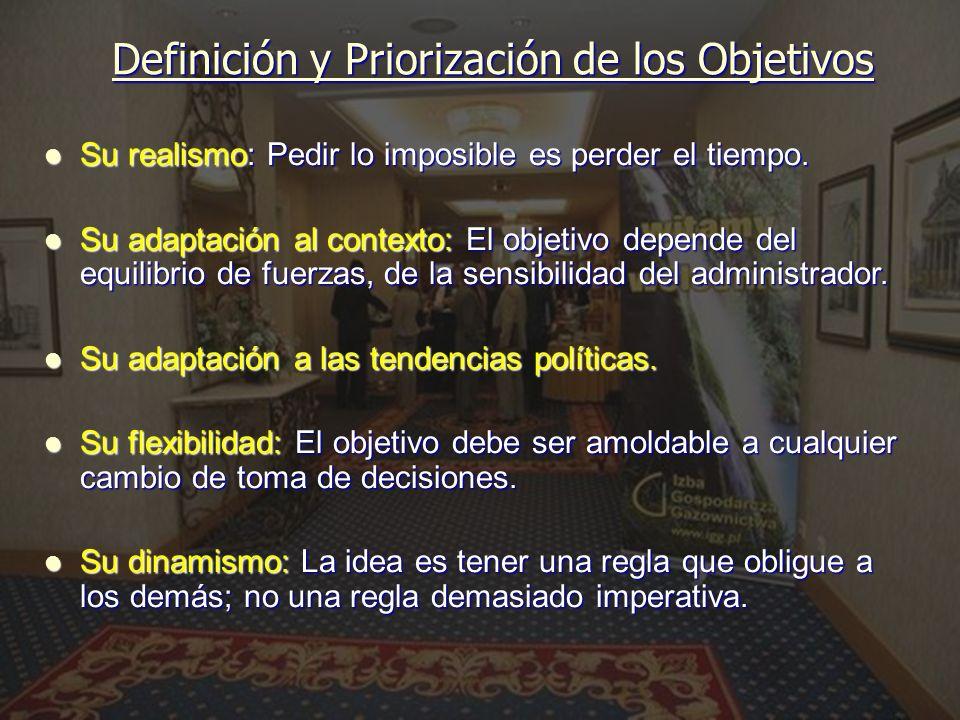 Definición y Priorización de los Objetivos