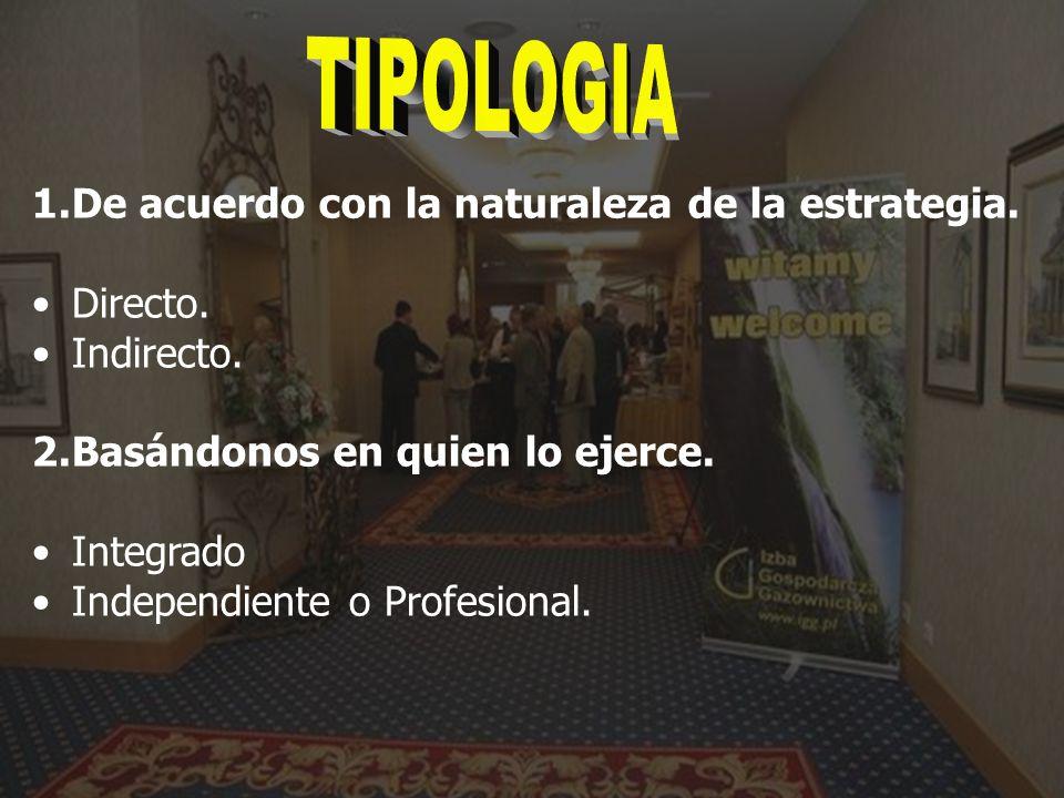 TIPOLOGIA De acuerdo con la naturaleza de la estrategia. Directo.
