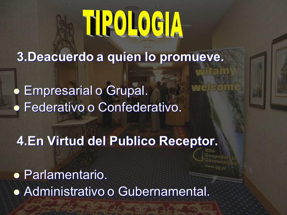 TIPOLOGIA 3.Deacuerdo a quien lo promueve. Empresarial o Grupal.