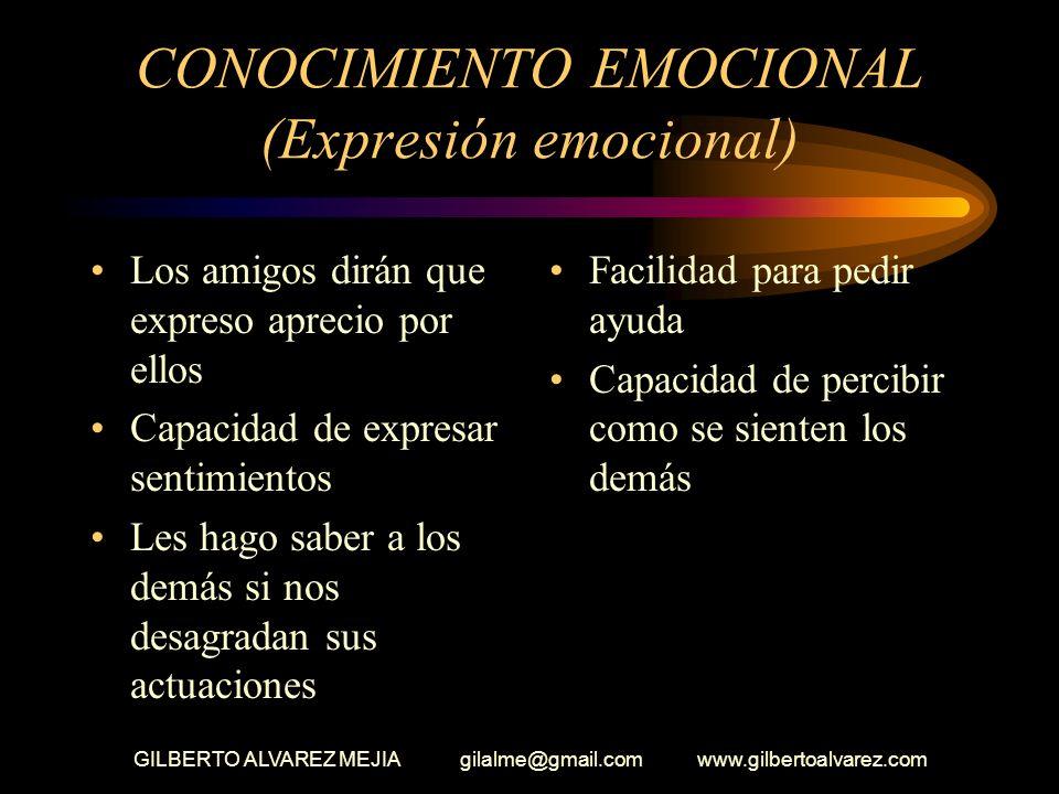 CONOCIMIENTO EMOCIONAL (Expresión emocional)