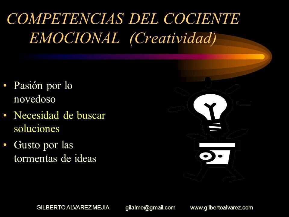 COMPETENCIAS DEL COCIENTE EMOCIONAL (Creatividad)