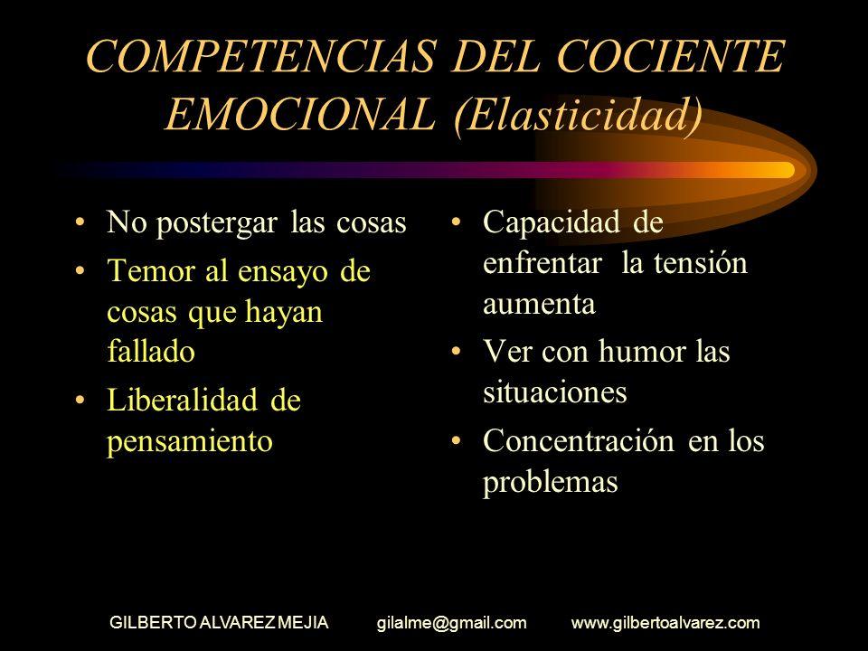 COMPETENCIAS DEL COCIENTE EMOCIONAL (Elasticidad)