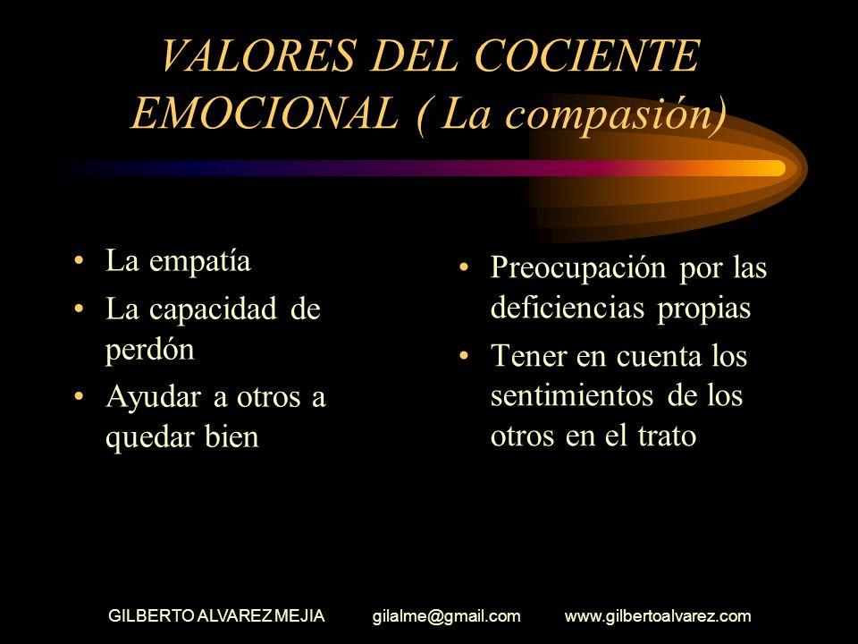 VALORES DEL COCIENTE EMOCIONAL ( La compasión)
