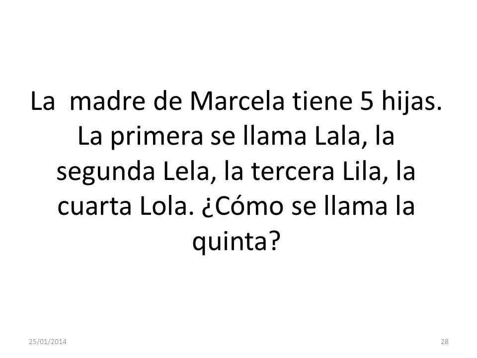 La madre de Marcela tiene 5 hijas