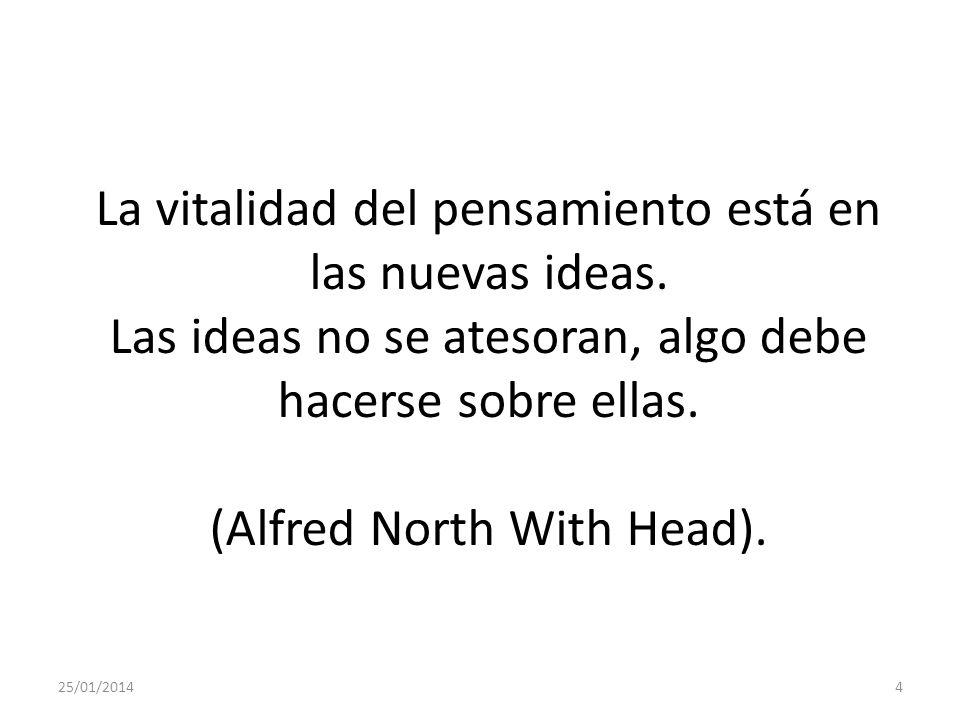La vitalidad del pensamiento está en las nuevas ideas