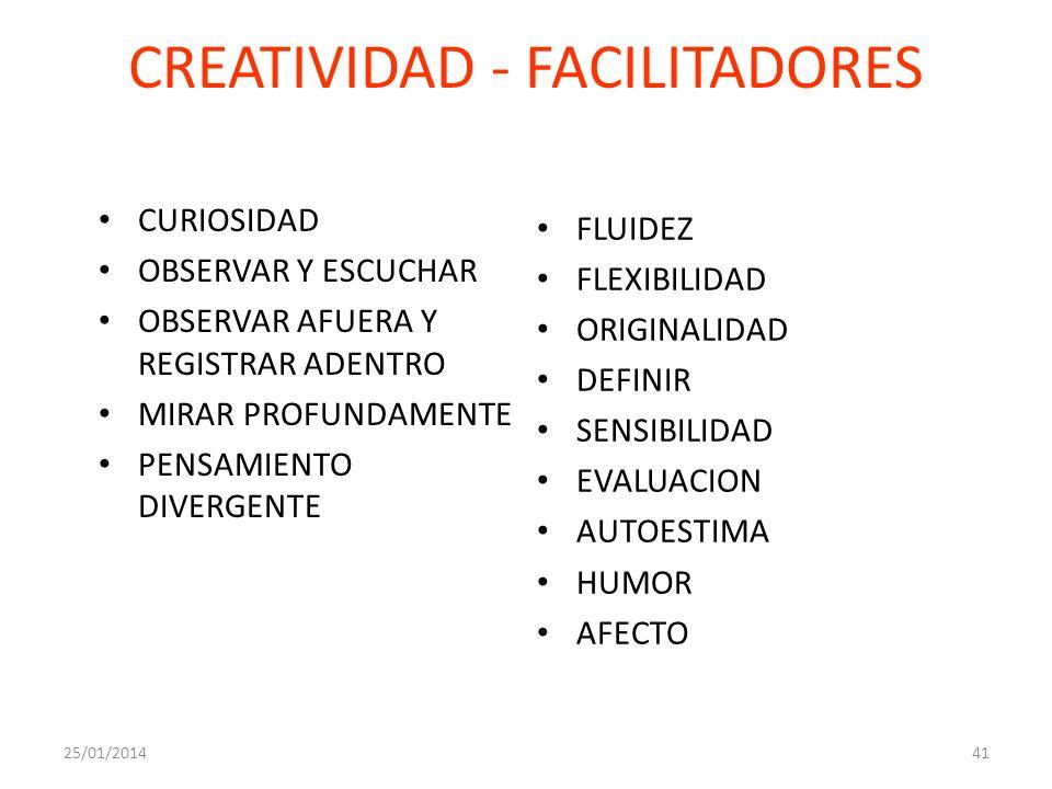 CREATIVIDAD - FACILITADORES
