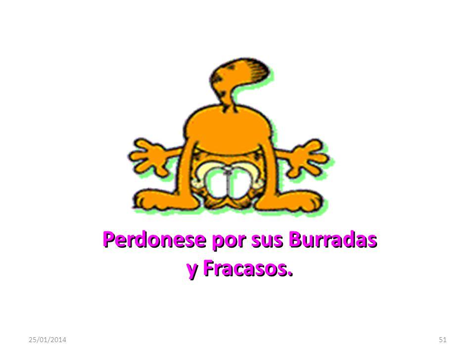 Perdonese por sus Burradas y Fracasos.