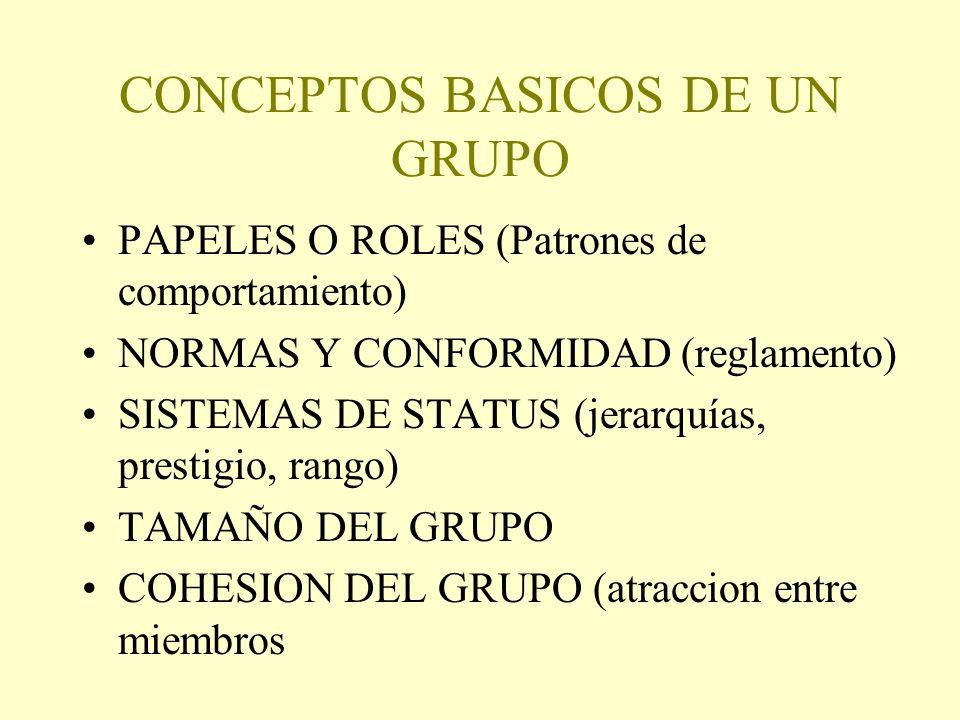 CONCEPTOS BASICOS DE UN GRUPO