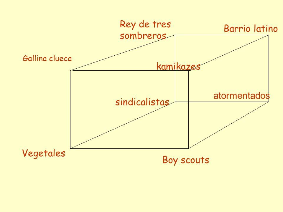 Rey de tres sombreros atormentados sindicalistas Vegetales Boy scouts