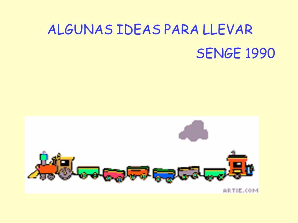 ALGUNAS IDEAS PARA LLEVAR