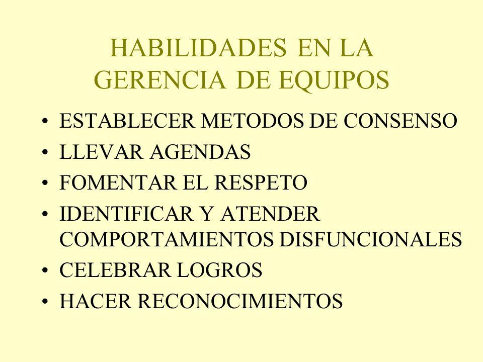 HABILIDADES EN LA GERENCIA DE EQUIPOS