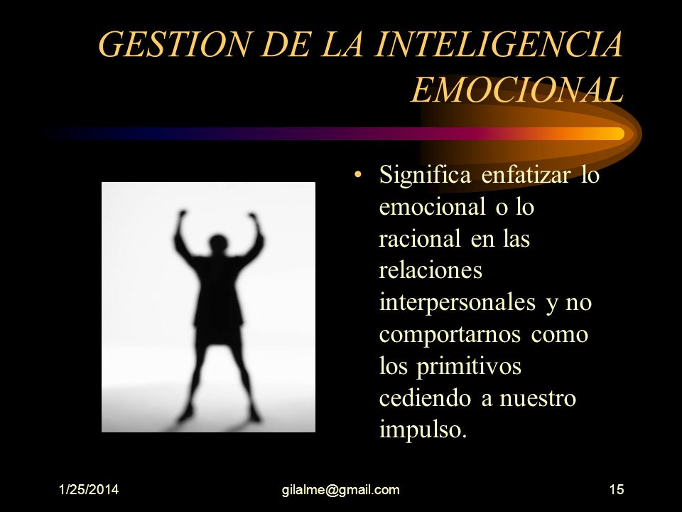 GESTION DE LA INTELIGENCIA EMOCIONAL