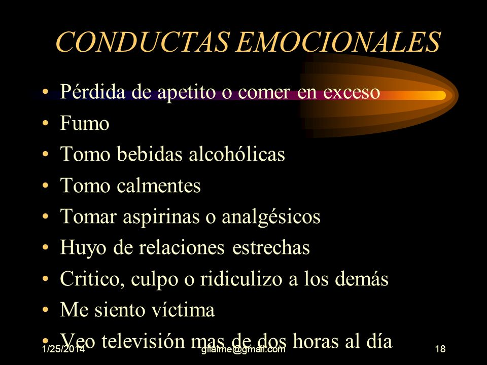 CONDUCTAS EMOCIONALES