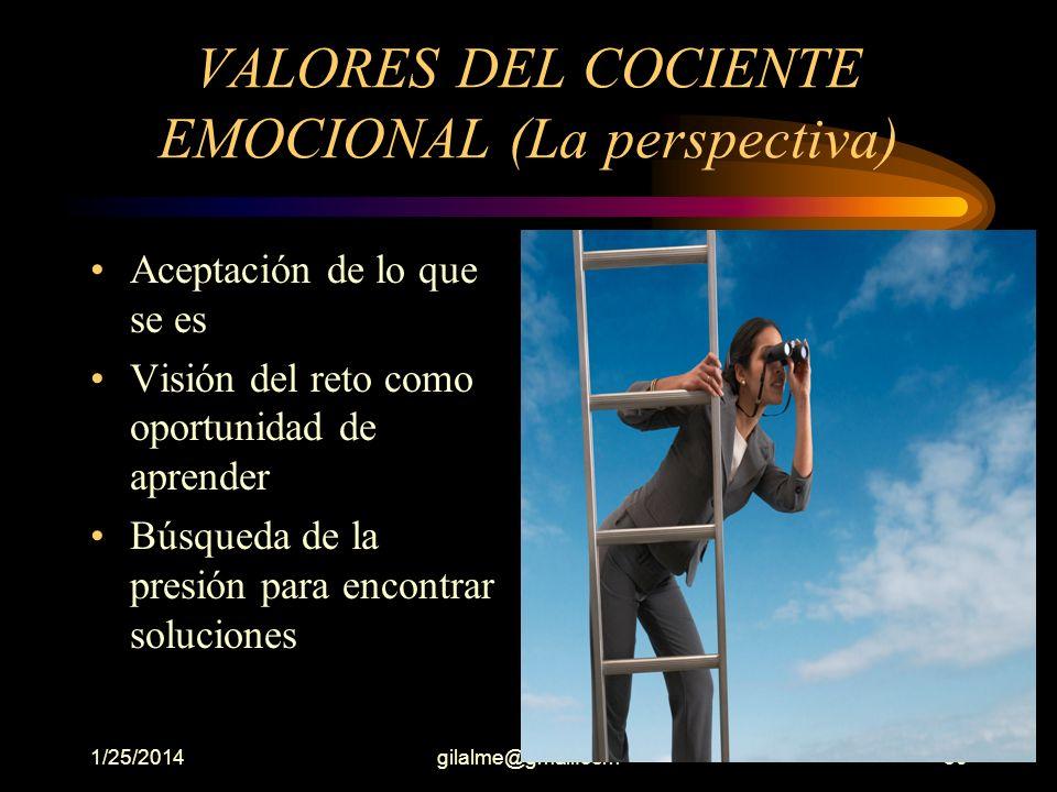 VALORES DEL COCIENTE EMOCIONAL (La perspectiva)