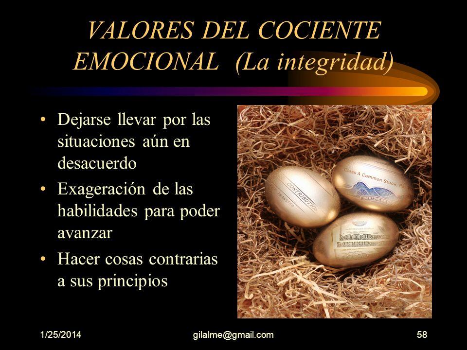 VALORES DEL COCIENTE EMOCIONAL (La integridad)