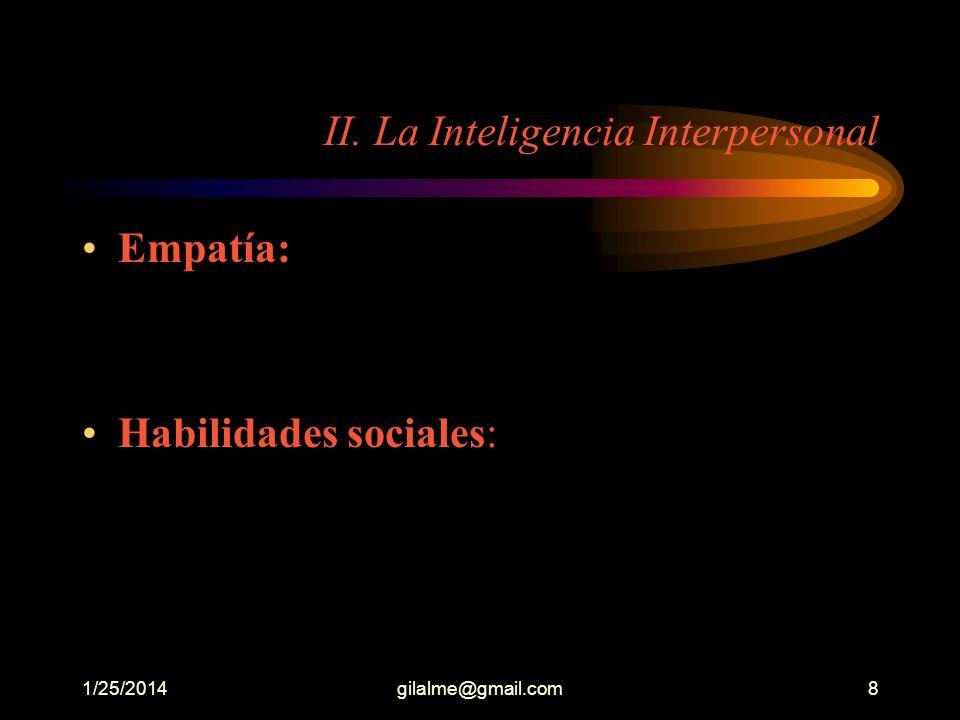 II. La Inteligencia Interpersonal