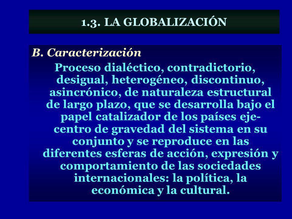 1.3. LA GLOBALIZACIÓN B. Caracterización.