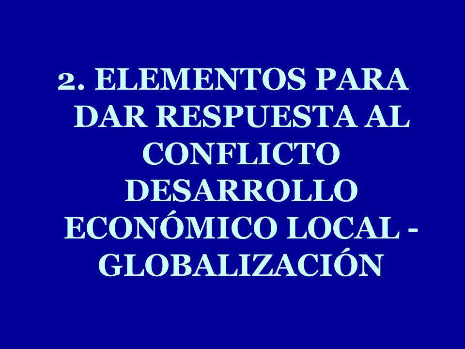 2. ELEMENTOS PARA DAR RESPUESTA AL CONFLICTO DESARROLLO ECONÓMICO LOCAL - GLOBALIZACIÓN