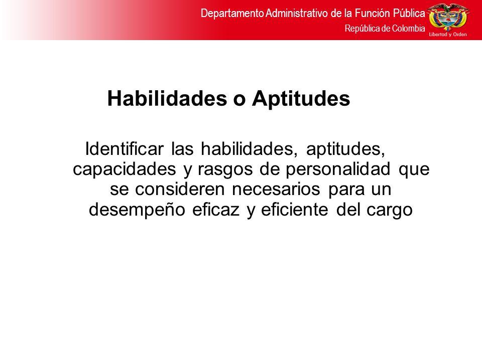 Habilidades o Aptitudes